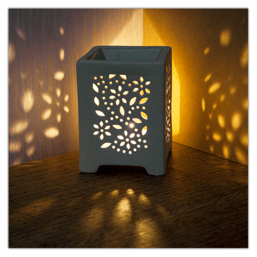 Cutwork T-light Square Oil Burner