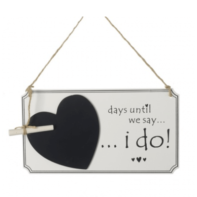 Days Until We say I Do Chalk board