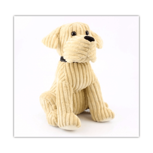 Cream Cordroy Dog Doorstop