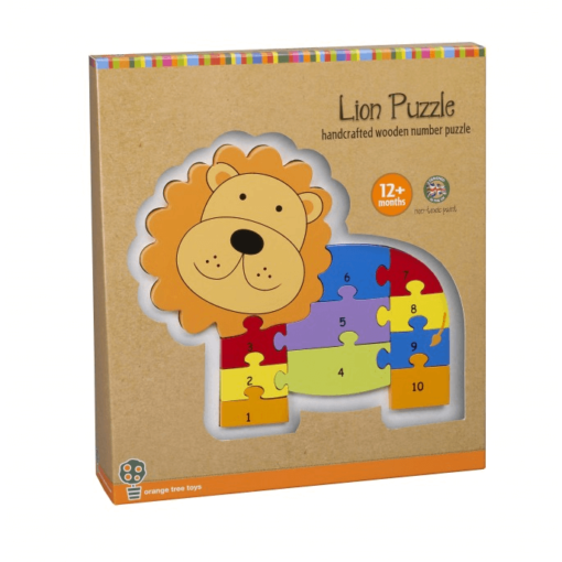 Lion Number Puzzle for Toddlers