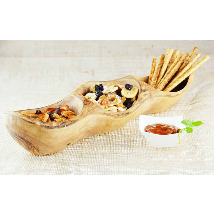 Olive Wood Appetiser Dish Rustic