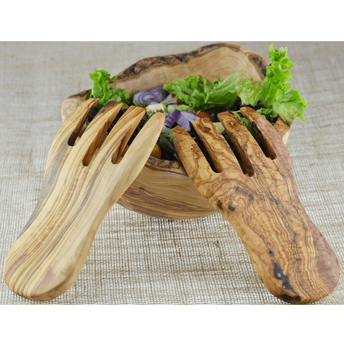 Olive Wood Salad Hands Suddenly Salad