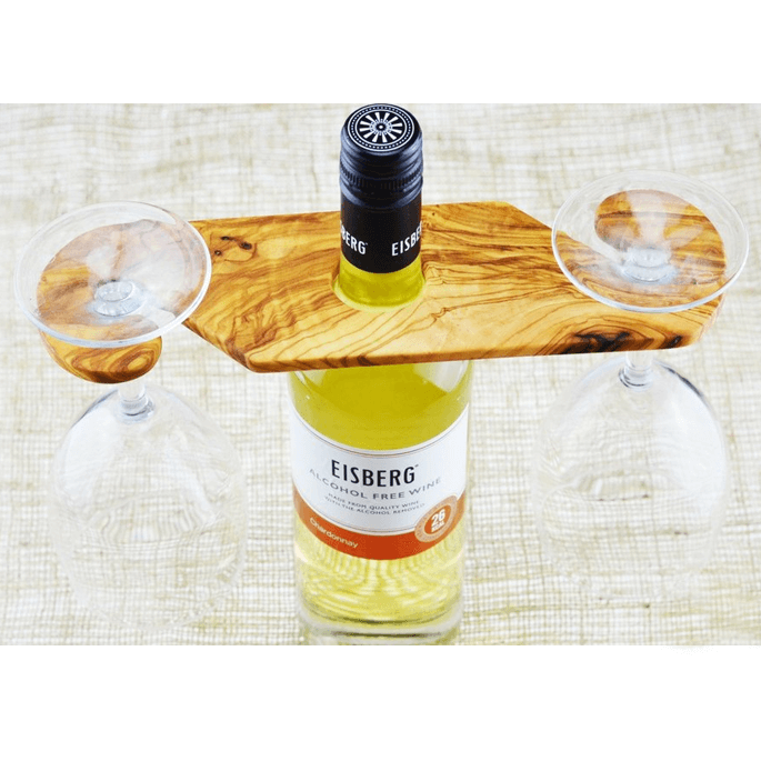 Olive Wood Wine and Glass Holder Suddenly Wine