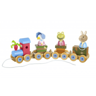 Traditional Peter Rabbit Puzzle train Toy