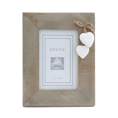White Hearts Picture Frame