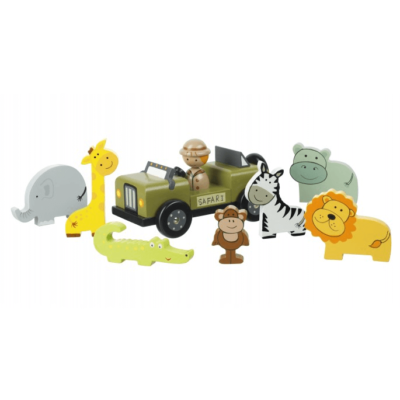 Traditional Wooden Safari Playset