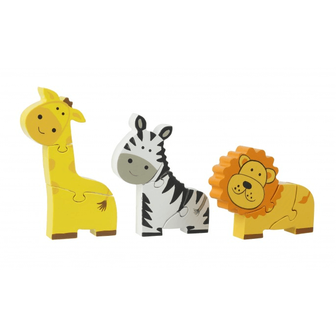 Mini Wooden Safari Puzzle