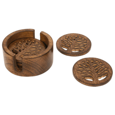 Coasters Mango Wood Tree