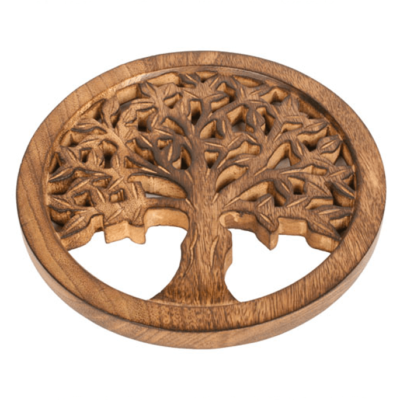 Mango Wood Trivet Tree