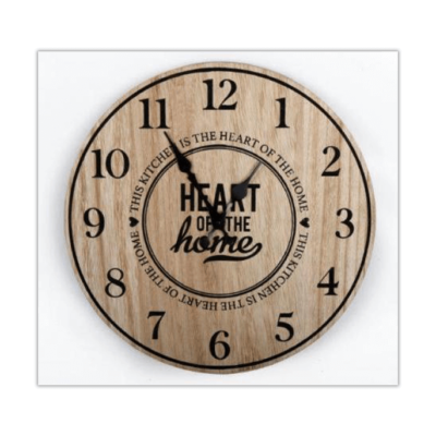 Heart of the Home Wooden Clock
