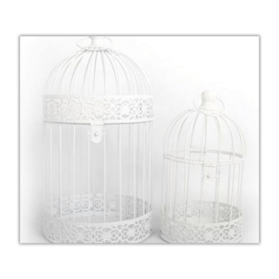 White Decorative Bird Cages